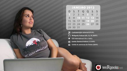 Calendário Geek – Janeiro 2012