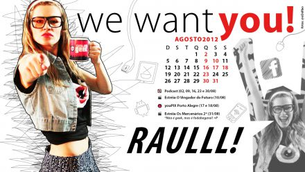 Calendário Geek – Agosto 2012