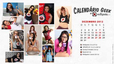Calendário Geek – Dezembro 2012