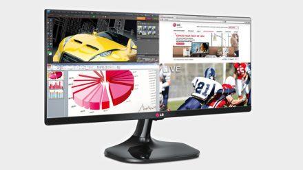 Monitor Ultrawide LG com 25 polegadas e formato 21:9