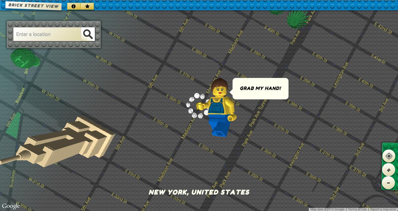 Navegue pelo Google Street View feito de LEGO