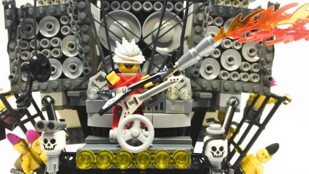 Carro do filme Mad Max: Fury Road em LEGO